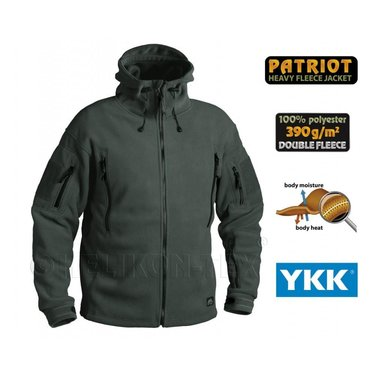 Bunda fleece Helikon PATRIOT jungle green